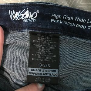 Mossimo Supply Co. Jeans - Mossimo High Rose Wise Leg Cropped Jeans Size 16